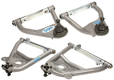 CPP 1955-57 Tubular Control Arms 1955-57, Upper/Lower, Silver, Set