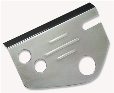 Danchuk 55-57 Steering box cover, 605, chrome, ribbed; ea