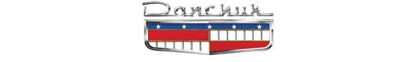 Danchuk Trunk Emblem With Bezel - 1956-1958 Chevy 6 Cylinder (Except 56 Nomad & 57 Belair)
